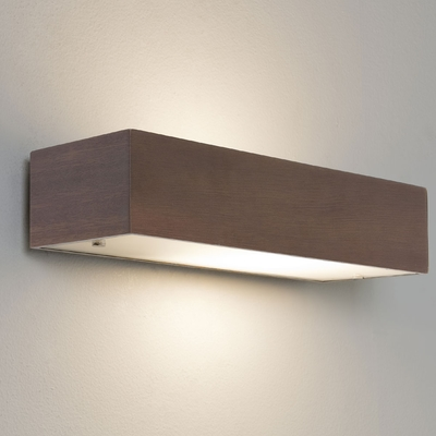 Walnut Rectangular Wall Light - Imperial Lighting