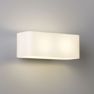 Curved Edge Rectangular Wall Light