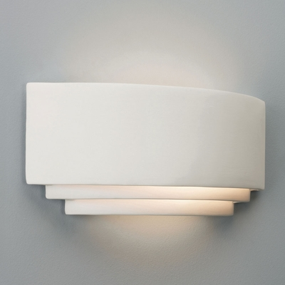 Ceramic Tiered Uplighter Wall Light