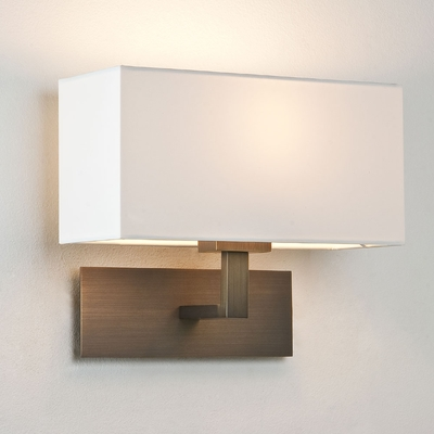 Bronze Wall Light with Shade