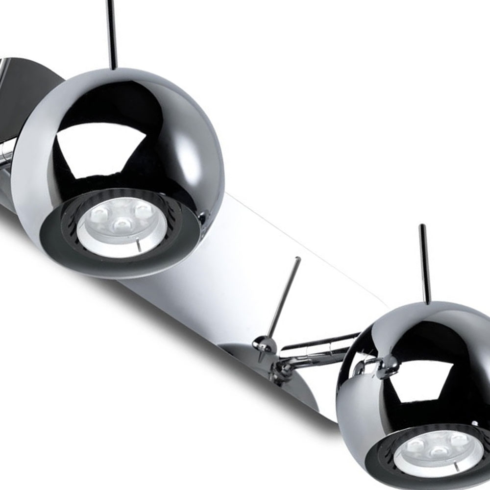 Chrome Ball Wall Lights : Chrome Ball Double LED Spotlight Wall Light - Imperial Lighting