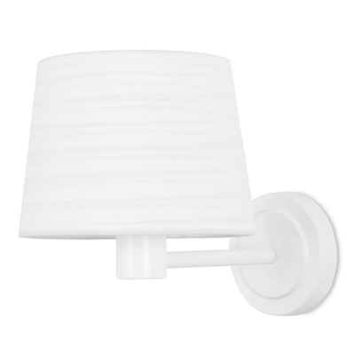 Blanc Matt White Wall Light with White Shade