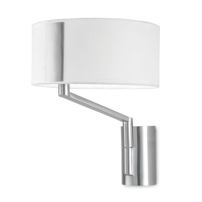 Twist Wall Light with White Shade
