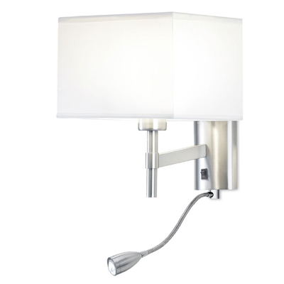 Ray Satin Nickel LED Wall Light
