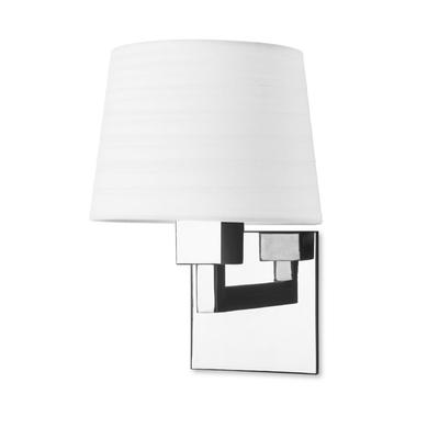 Quad Chrome Wall Light with White Shade