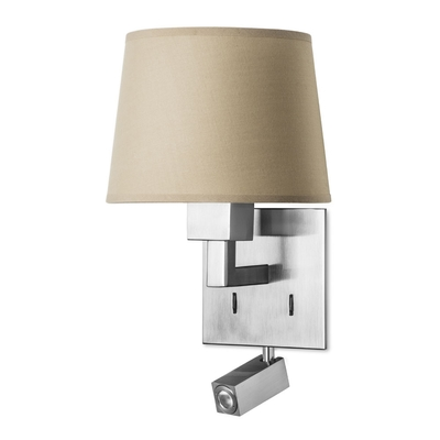 Wall Lights Nickel : Quad Satin Nickel Wall Light with LED Spotlight - Imperial Lighting
