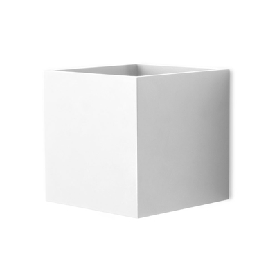 Cube White LED Wall Light