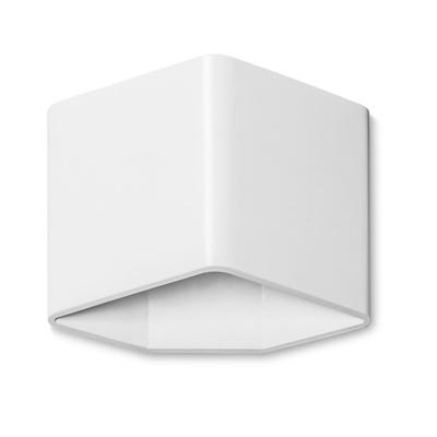 Angled White LED Wall Light