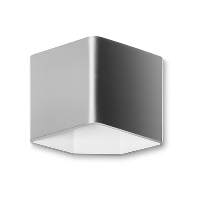 Angled Brushed LED Wall Light