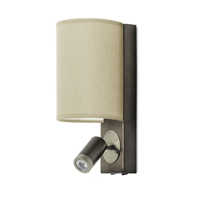 Buc Wall Light with LED Spotlight