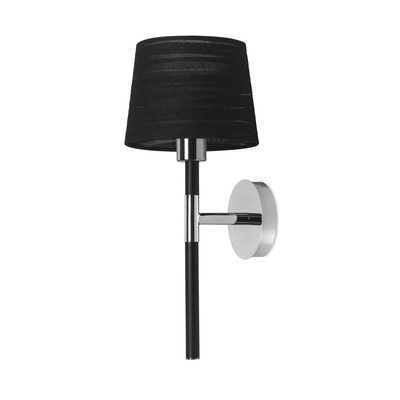 Wand Black Wall Light with Black Shade
