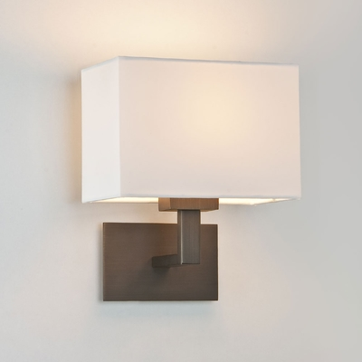 Rectangular Wall Light with Shade