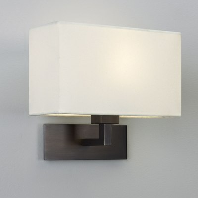 Large Bronze Wall Light with Shade