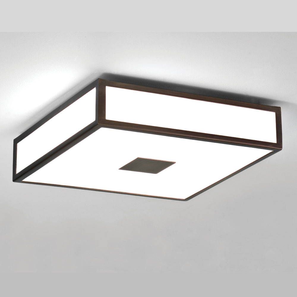 Mashiko Square 300 Bronze Ceiling Light