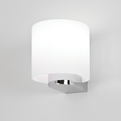 White Round Bathroom Wall Light