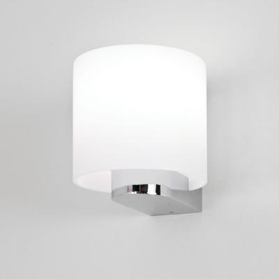 White Round Bathroom Wall Light