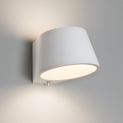 White Plaster Circular Wall Light