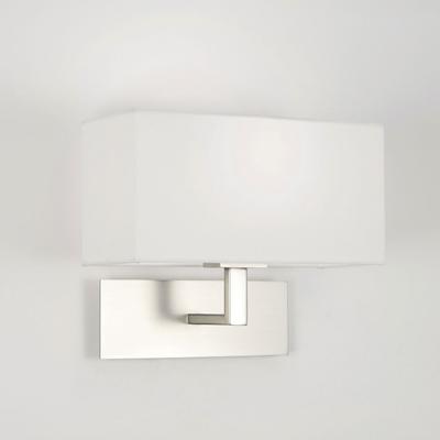 Matt Nickel Wall Light with Shade