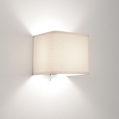 Fabric White Cube Wall Light