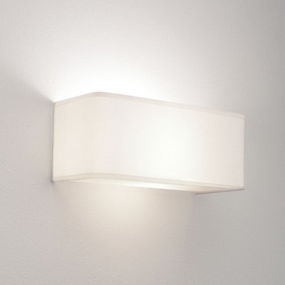 Fabric White Rectangular Wall Light