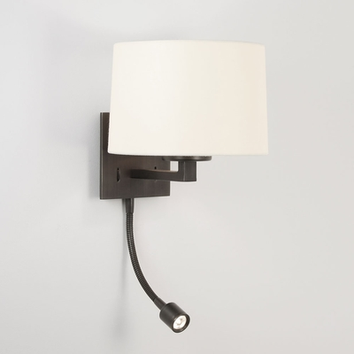 Square LED Wall Light in Bronze