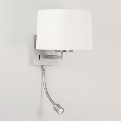 Square LED Wall Light in Matt Nickel