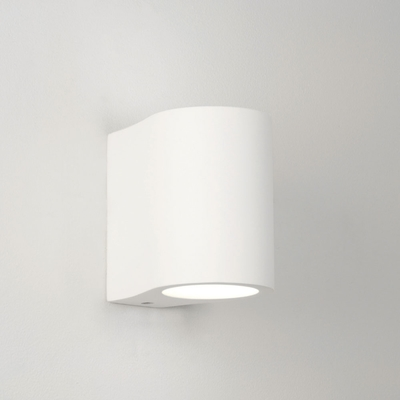 Ellipse White Plaster Wall Light