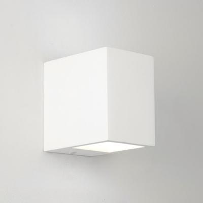 Column White Plaster Wall Light