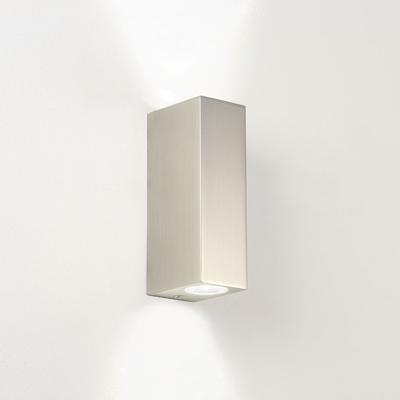 Block LED Bathroom Matt Nickel Wall Light
