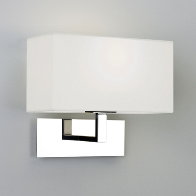 Polished Chrome Wall Light with White Shade