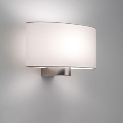 Stylish Oval Matt Nickel Wall Light