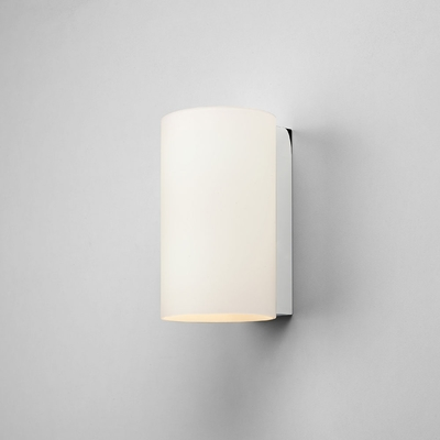 Cylinder White Opal Glass Wall Light (Small)