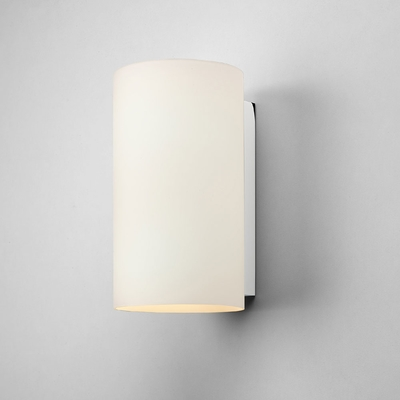 Cylinder White Opal Glass Wall Light (Large)