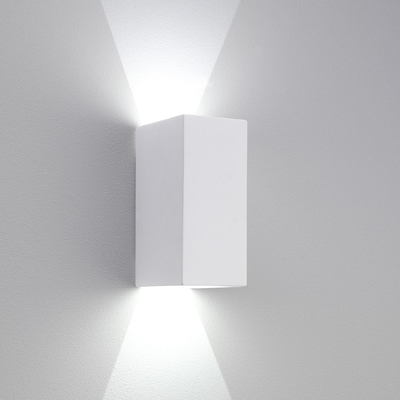 Rectangle Plaster LED Wall Light Small White - Imperial Lighting