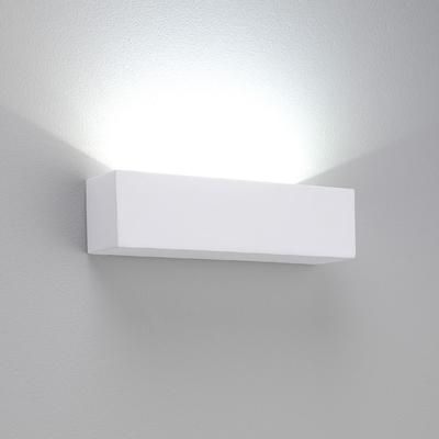 Rectangle Horizontal White Plaster LED Wall Light - Imperial Lighting