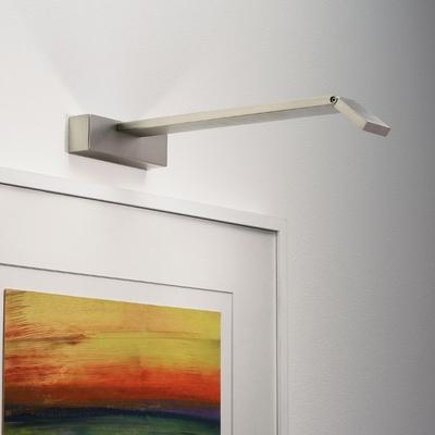 Angled LED Picture Light in Matt Nickel (Long)