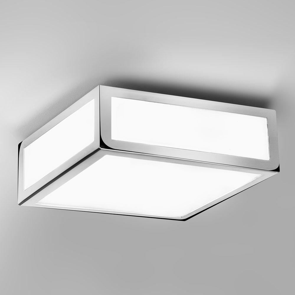 Mashiko square 200 chrome ceiling light imperial lighting for Square bathroom ceiling light