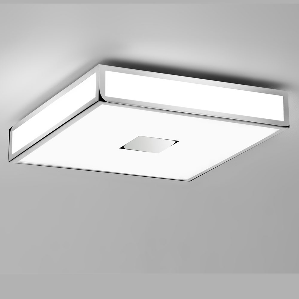 Mashiko Square 400 Chrome Ceiling Light