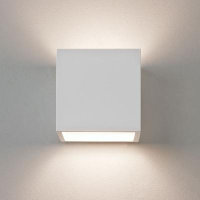 Box White Plaster Wall Light