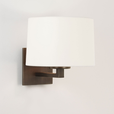 Square Wall Light in Bronze