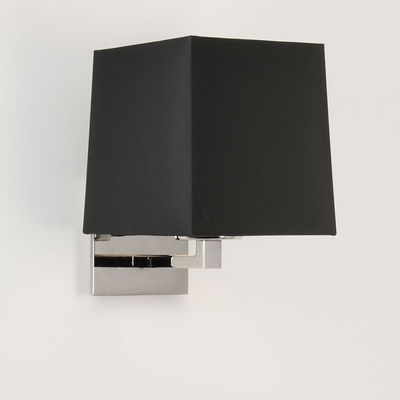 Square Wall Light in Polished Nickel
