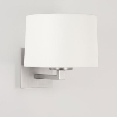 Square Wall Light in Matt Nickel