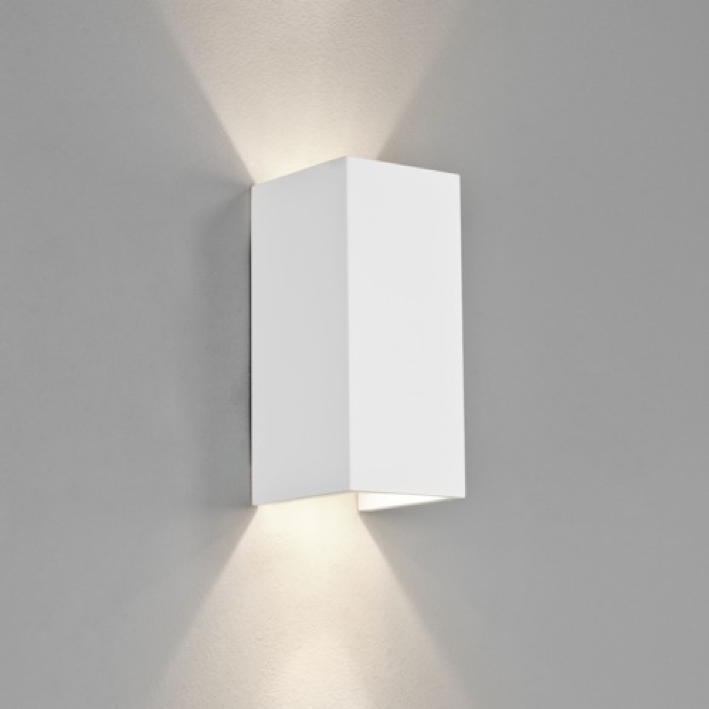 Rectangle Plaster Wall Light Large White Imperial Lighting