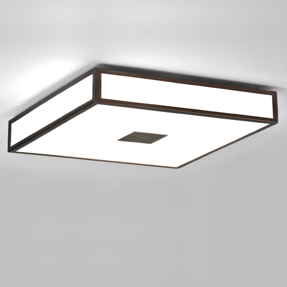 Mashiko Square 400 Bronze Ceiling Light