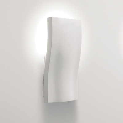Wave White Plaster Wall Light