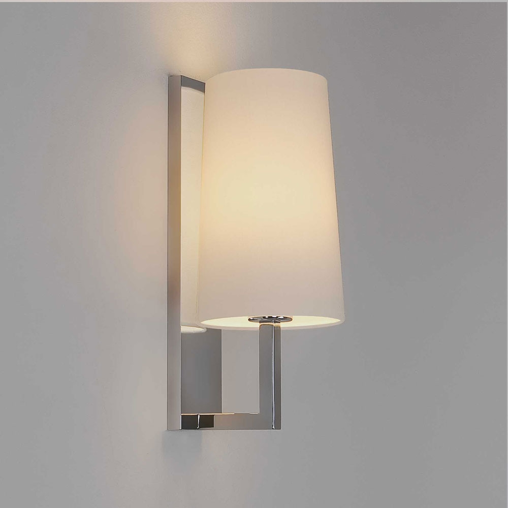 Riva wall light - polished chrome