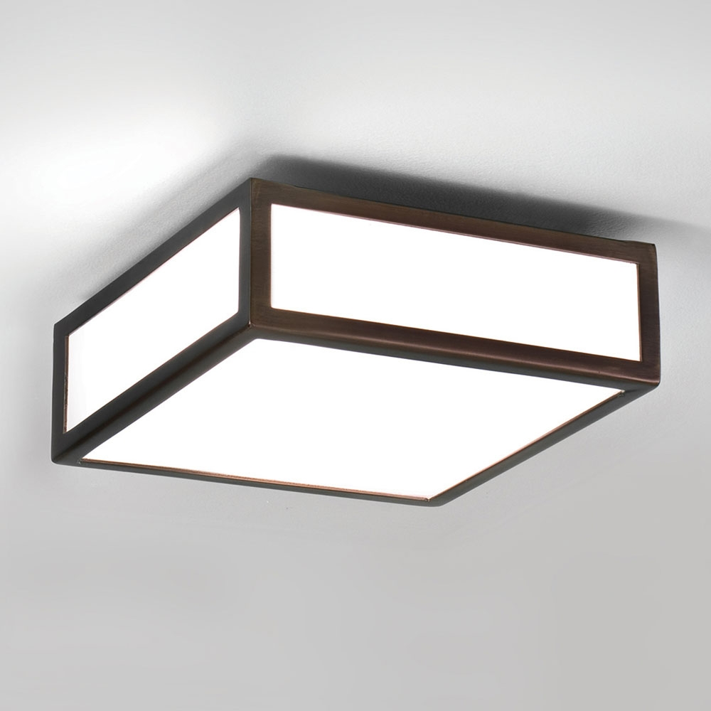 Mashiko Square 200 Bronze Ceiling Light