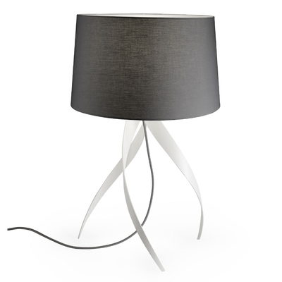 Medusa Matt White Table Lamp and Shade