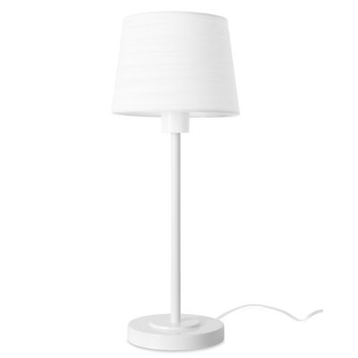 White Table Lamp with White Shade