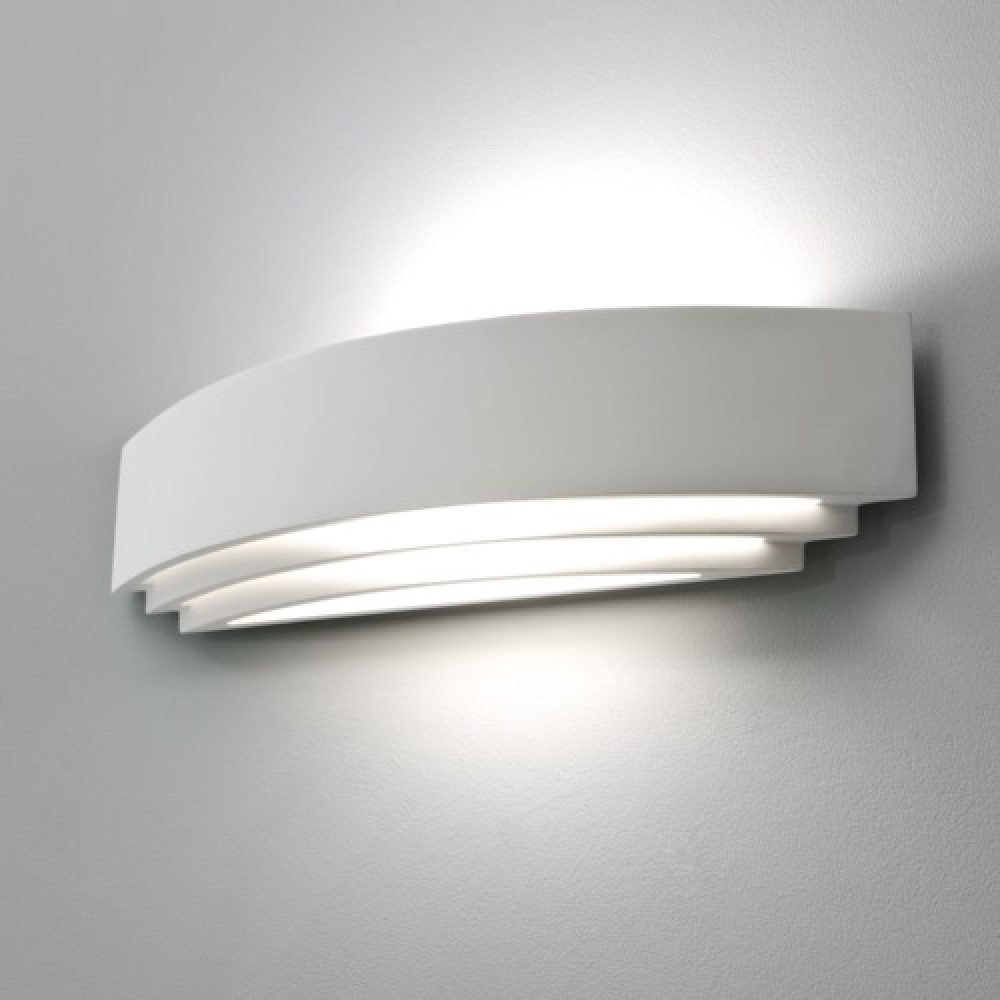 Plaster Tiered Uplighter Wall Light Grande Imperial Lighting